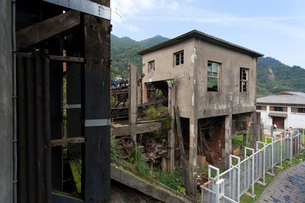 台湾、平渓線、猫村の炭鉱遺跡の写真素材 [FYI02665690]