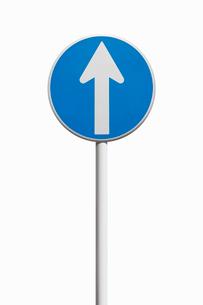 道路標識 指定方向外進行禁止の写真素材 [FYI02666115]