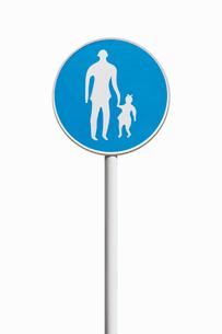 道路標識 歩行者専用の写真素材 [FYI02666160]