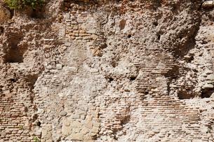 フォロ・ロマーノの壁 ローマ イタリアの写真素材 [FYI02666169]