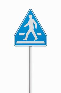 道路標識 横断歩道の写真素材 [FYI02666173]