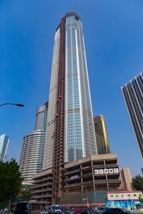大連,工事中の高層ビルの写真素材 [FYI02666255]
