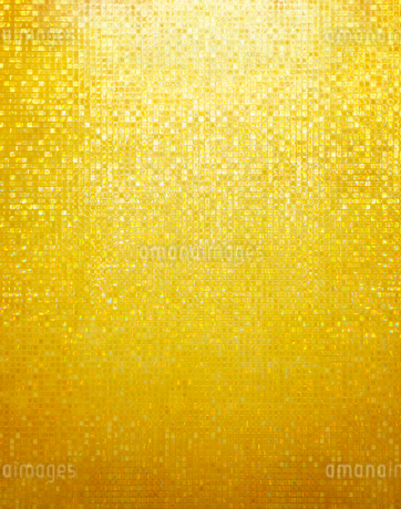 ゴールドのタイル状のキラキラ素材の写真素材 [FYI02666276]