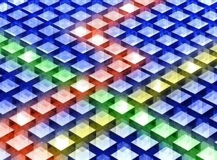 カラーキューブのパターン CGのイラスト素材 [FYI02666339]
