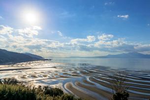おこしき海岸の干潟の写真素材 [FYI02666490]