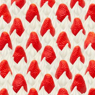 ショートケーキのパターン スイーツデコの写真素材 [FYI02666583]