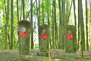 お地蔵様と竹林の写真素材 [FYI02666668]