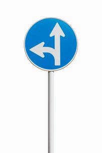 道路標識 指定方向外進行禁止の写真素材 [FYI02666696]