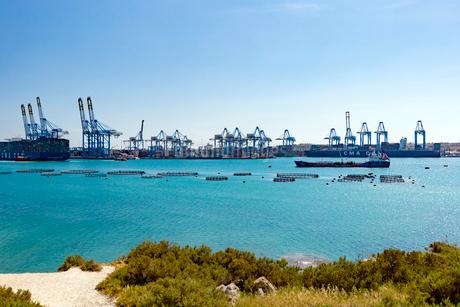 国際貿易港,マルタフリーポートの写真素材 [FYI02667032]