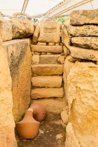 世界遺産タルシーン神殿の石積みの写真素材 [FYI02667056]