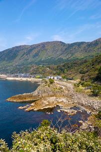 福井,越前海岸の入江の写真素材 [FYI02667100]
