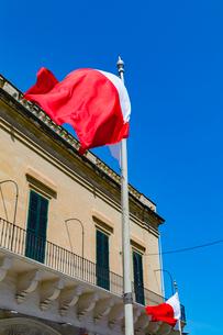 マルタ共和国の国旗の写真素材 [FYI02667240]
