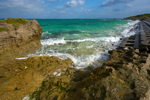 黒島,ウミガメの聖地,西の浜の写真素材 [FYI02667249]