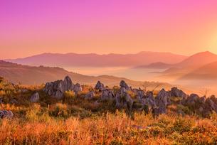 秋吉台の雲海の写真素材 [FYI02667255]