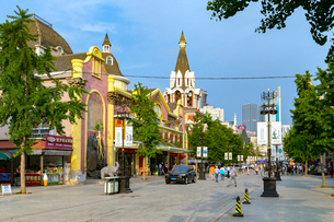 大連,ロシア風情街,メインストリートの写真素材 [FYI02667293]
