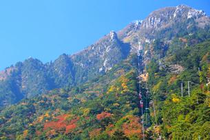 三重県 御在所岳の紅葉の写真素材 [FYI02667411]