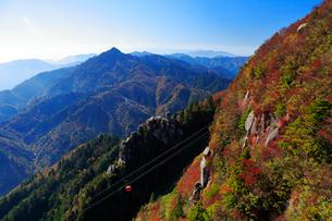 三重県 御在所岳の紅葉の写真素材 [FYI02667449]