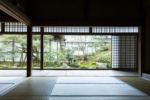 浄住寺の武家屋敷と中庭の写真素材 [FYI02668003]