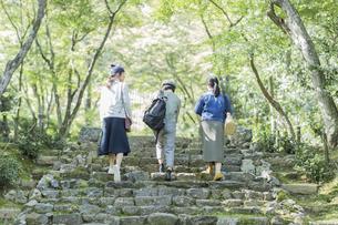 参道を歩く3人の女性の写真素材 [FYI02668102]