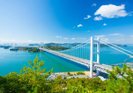鷲羽山より瀬戸大橋の写真素材 [FYI02668535]