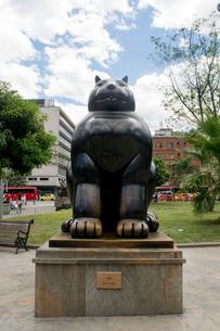 メデジンのポテロ広場の銅像の写真素材 [FYI02668593]