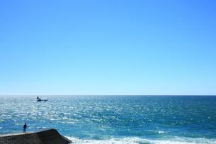 西湘バイパスから望む相模湾の写真素材 [FYI02668803]