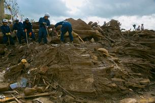 土砂災害の風景の写真素材 [FYI02668877]