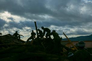 土砂災害の風景の写真素材 [FYI02668934]