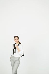 笑顔の20代外人モデルのポートレートの写真素材 [FYI02668984]