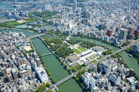 広島市の航空写真の写真素材 [FYI02668985]