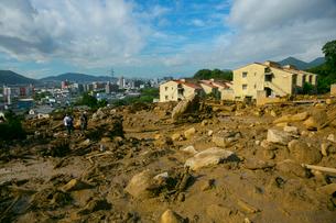 土砂災害の風景の写真素材 [FYI02669086]