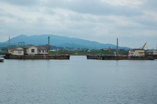 三池港の閘門式ドックの写真素材 [FYI02669246]