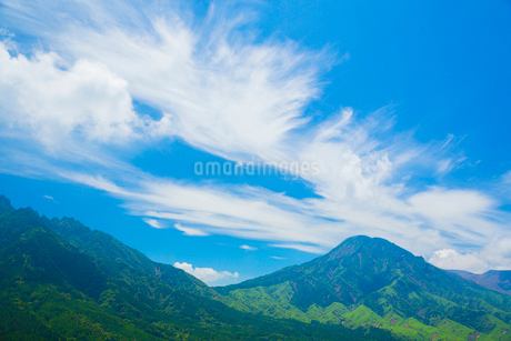 箱石峠より阿蘇の根子岳の写真素材 [FYI02669325]