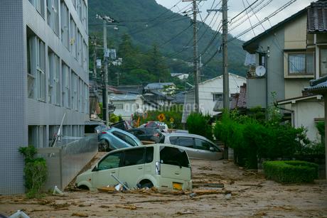 土砂災害の風景の写真素材 [FYI02669337]