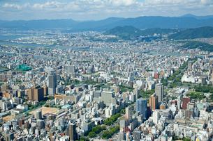 広島市中町上空より西方向の写真素材 [FYI02669374]