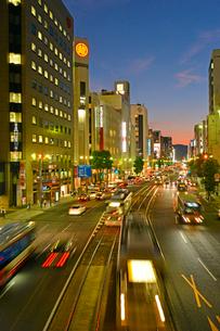 広島市相生通りの夜景の写真素材 [FYI02669581]