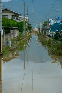 土砂災害の風景の写真素材 [FYI02669627]