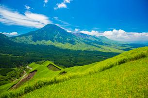箱石峠より阿蘇の根子岳の写真素材 [FYI02669660]