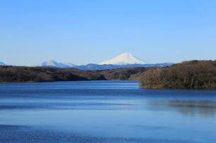 狭山湖と富士山の写真素材 [FYI02670279]