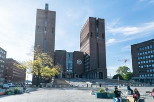 オスロ市庁舎の写真素材 [FYI02670332]