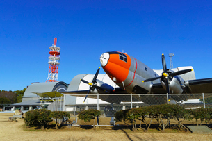所沢航空記念公園 C-46A輸送機(天馬)の写真素材 [FYI02670398]