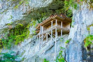 三徳山三佛寺の投入堂の写真素材 [FYI02670653]