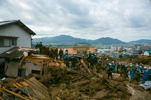 土砂災害の風景の写真素材 [FYI02670786]