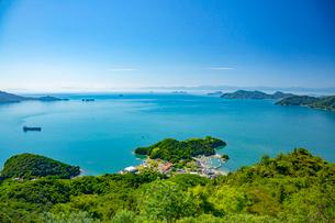 高見山より瀬戸の多島美の写真素材 [FYI02670797]