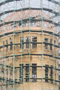 原爆ドーム構造補強工事の写真素材 [FYI02670900]