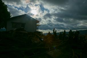 土砂災害の風景の写真素材 [FYI02671169]