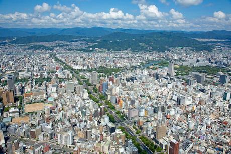 広島市の航空写真の写真素材 [FYI02671183]