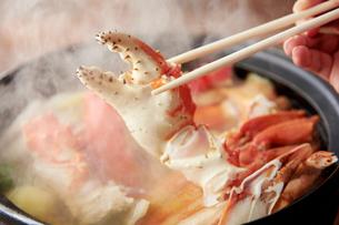 タラバとズワイ蟹鍋(アップ)の写真素材 [FYI02671236]