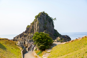 福井,越前海岸,鉾島への道の写真素材 [FYI02671255]