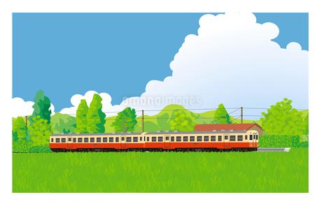 キハ200小湊鉄道 無人駅に停車中のイラスト素材 [FYI02671274]